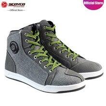 SCOYCO обувь в байкерском стиле; нескользящие дышащие противоударные защитные туристические Повседневные высокие ботильоны; MBX/MTB/ATV; сапоги для верховой езды; MT016