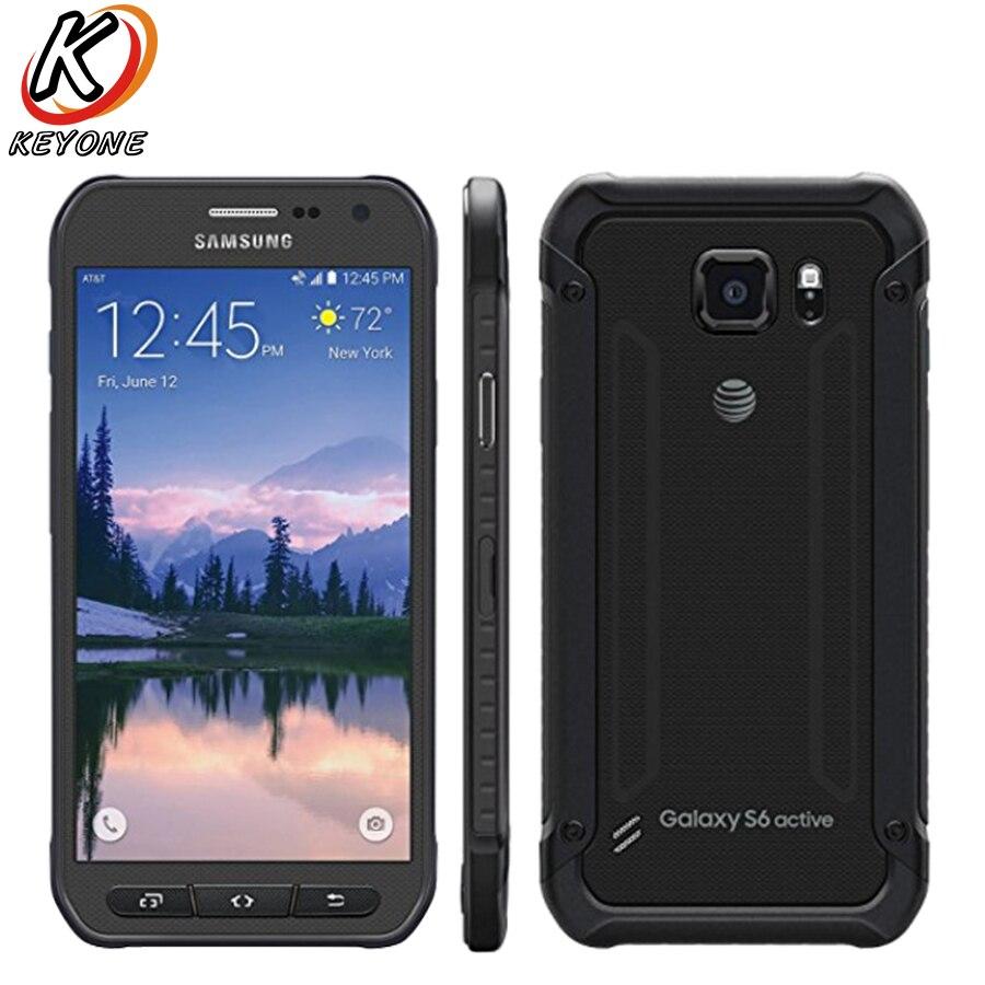 D'origine Samsung Galaxy S6 Active G890A LTE Mobile Téléphone 5.1 Octa Core 3 gb RAM 32 gb ROM 2560 x 1440px 16.0MP Android Téléphone Portable