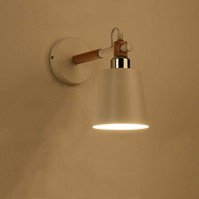 Скандинавский деревянный стильные настенные светильники современные минималистский спальня прикроватная лампа для балкона крыльцо лестницы Исследование Гостиная Современные светильники