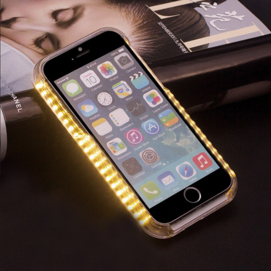 Light emitting designs - 50pcs Emitting Light Selfie Case For Apple 7 For Iphone 6 6s Plus 7 7plus With