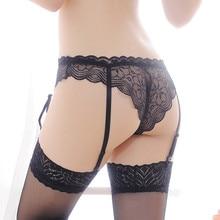 Floral Lace Garter Belt and Stockings Set