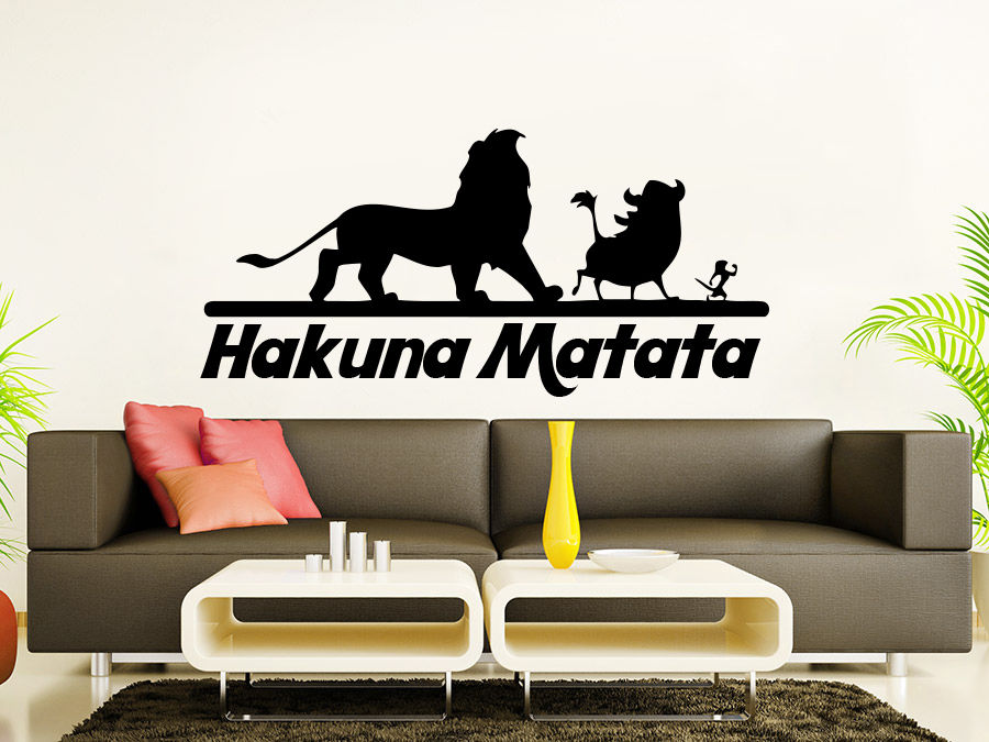 Wall Decals Quotes Vinyl Sticker Decal Quote Hakuna Matata ...