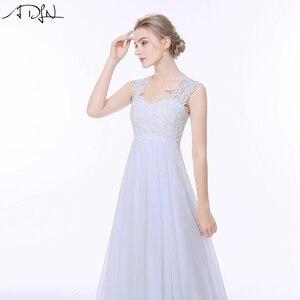 Image 4 - ADLN Elegant Chiffon Beach Wedding Dresses Simple Empire Sweep Train Open Back Boho Plus Size Bridal Gown for Pregnant Woman
