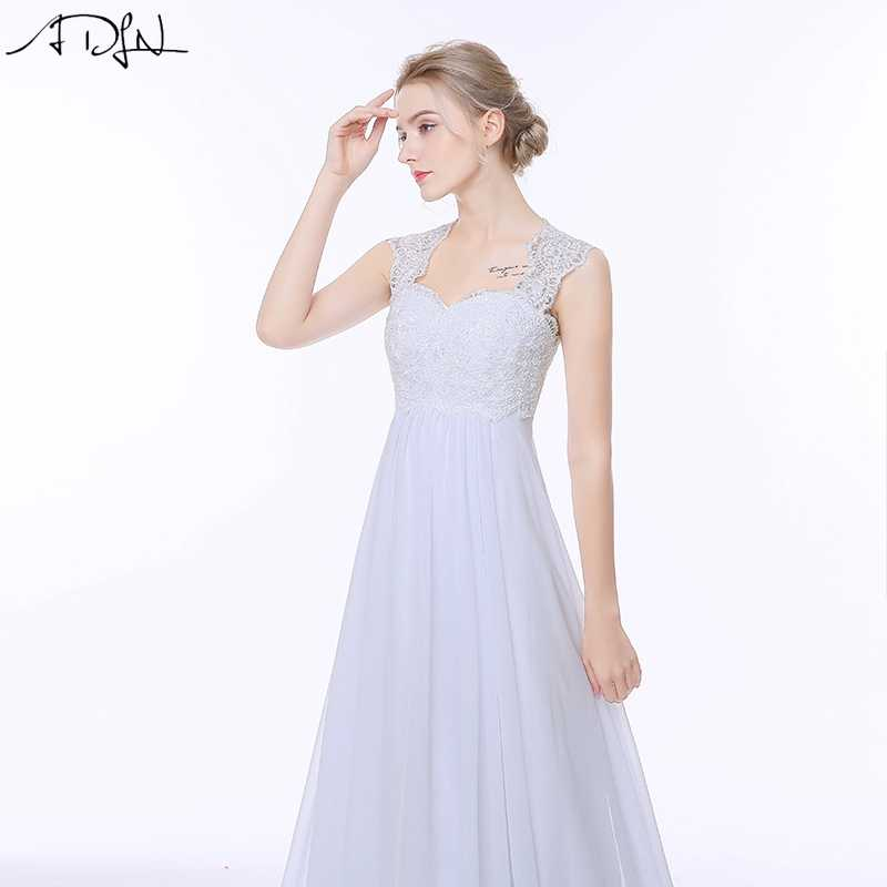 ADLN Elegant Chiffon Beach Wedding Dresses Simple Empire Sweep Train Open Back Boho Plus Size Bridal Gown for Pregnant Woman
