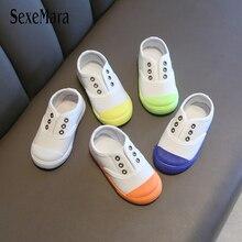 Симпатичные гелевые Цвет снизу Осенняя повседневная обувь для новорожденного парусиновые туфли для мальчиков маленькая девочка теннисные туфли белого цвета, детские тапочки для малышей C07171