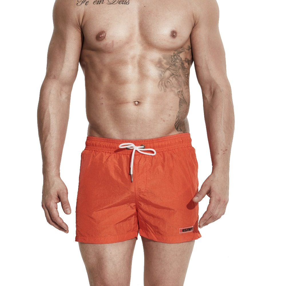 Mens Simple Sexy Fluorescence Sports Surfing Thick Sports   Short     Board     shorts