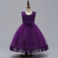 3 12T Girls Elegant A Line Lace Dress For Party Flower Girl Kid Pageant Communion Formal