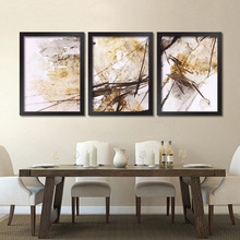 Abstract modern minimalist living room decorative painting paintings monochrome fresco restaurant office box triple ink