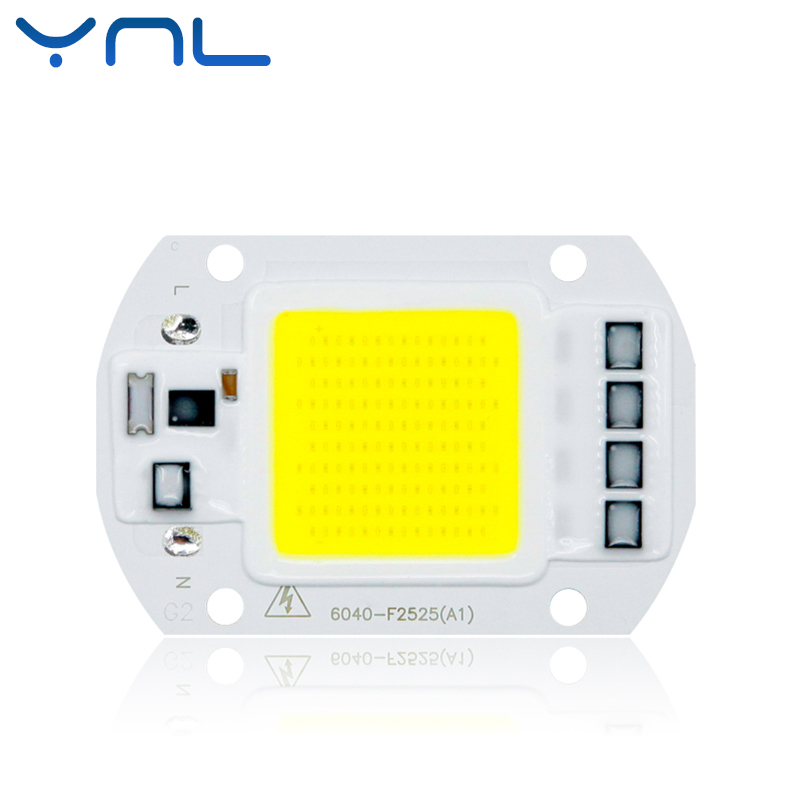 YNL COB LED Chip lamp 110V 220V High Lumen 20W 30W 50W No Need Driver LED Bulb Input IP65 Smart IC Outdoor LED Flood Light chips 2015 h1 led cree high lumen 30w 3000lm 6000k no need fan