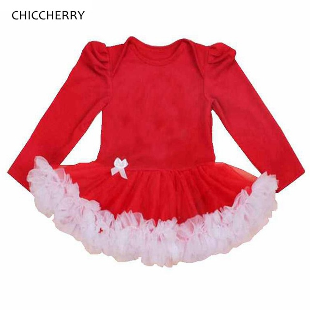 15c613596f87 Solid Color Red Long Sleeve Baby Girl Romper Dress Lace Tutu Body Bebe  Menina Macacao Bebe Jumpsuit Kids Overalls Baby Clothing