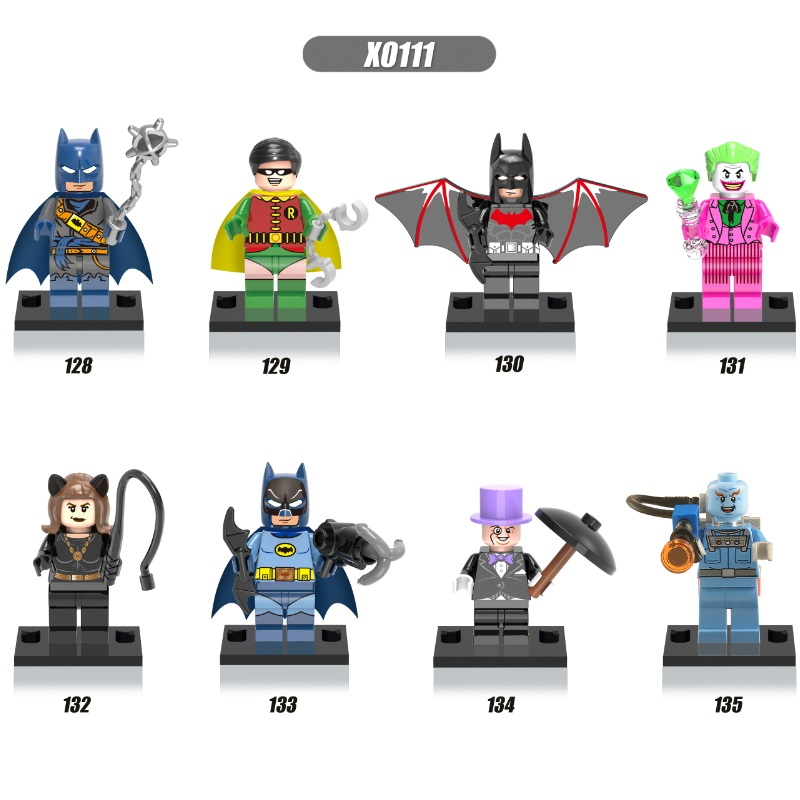 Single Sale Super Heroes Building Blocks Batman Penguin Robin Catwoman Mister Freeze Action Figures Bricks Toys For Kids X0111