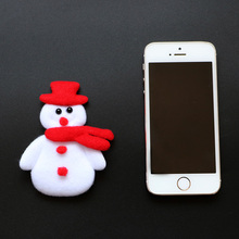 20PCS Merry Christmas Ornament plush snowman accessory for candy gift box bags christmas decoration supply