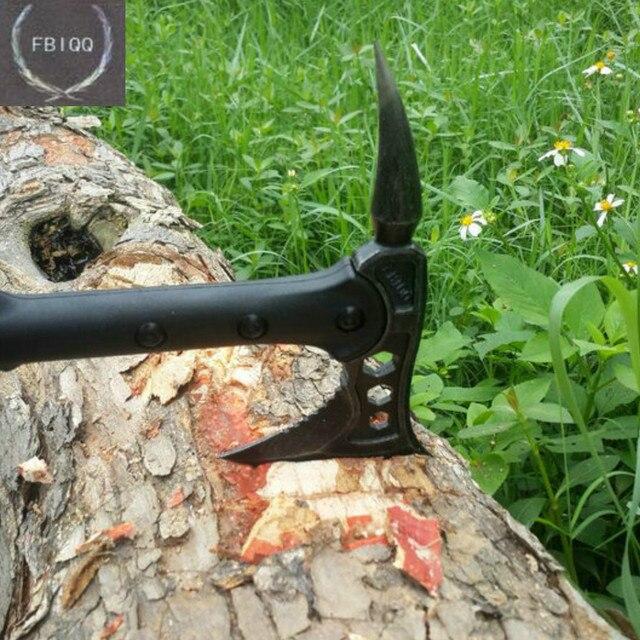 FBIQQ Tactical Axe Tomahawk Army Outdoor Hunting Camping Survival Machete Axes Hand Tools Fire Axe Hatchet Axe/Ice Axe 2