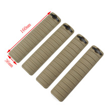 4 pcs Tactical KAC Handguard rail cover for  Picatinny Rail Black TAN picatinny rail for g36 g36c series black