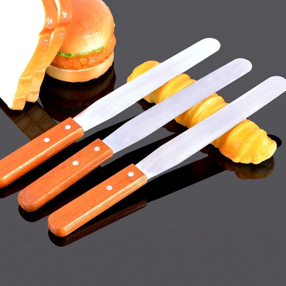 1pc cake decorating long spatula pallete flat knife butter