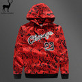 Aelfric Eden Men 3D Print Rose Hoodies 23 Letter Printing Sweatshirts Chicago Mens Street Style Red Rose Casual Sportswear