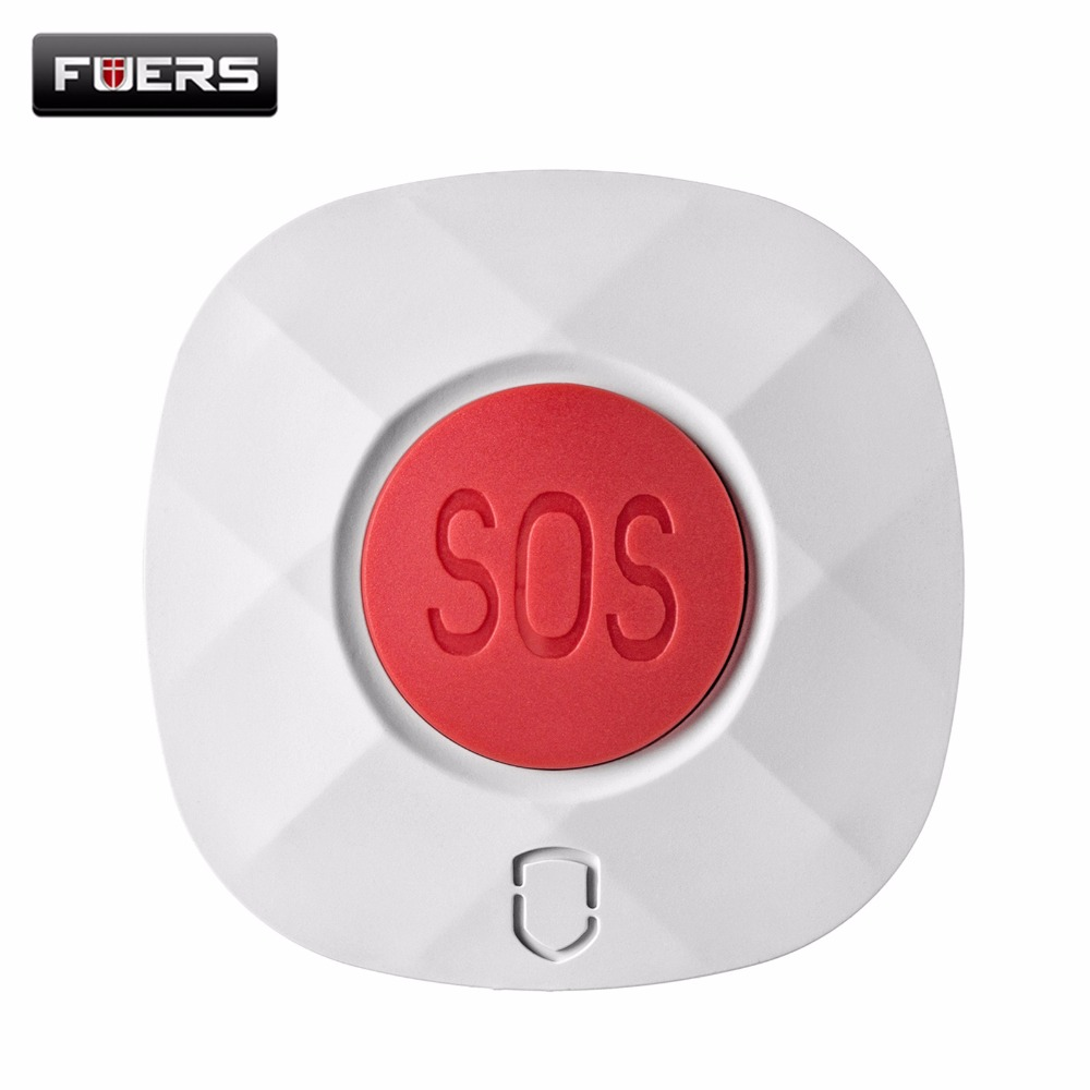Fuers Panic Button Wireless SOS Emergency Panic Button For Our GSM Alarm System 433MHz One Key Alert 80m Distance цена