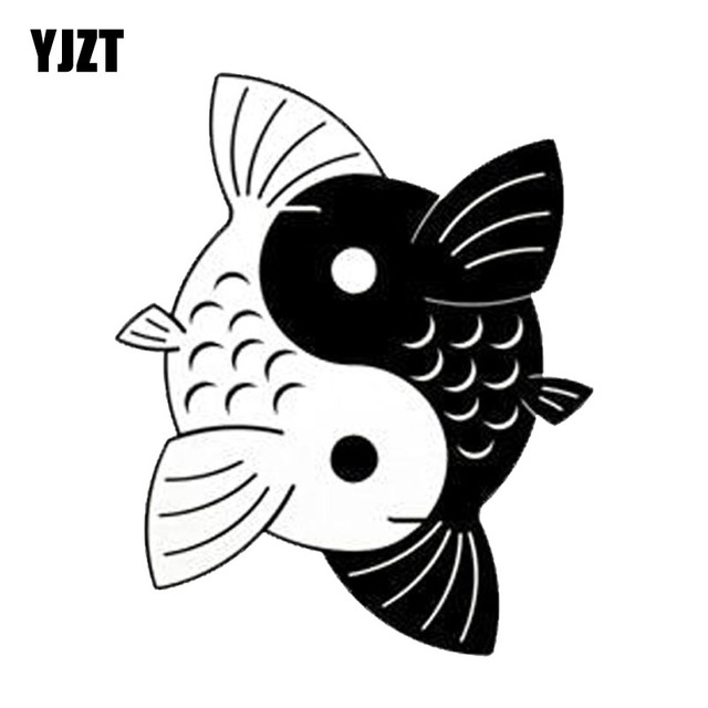 yjzt 124152 cm yin yang koi fisch kreative cartoon auto