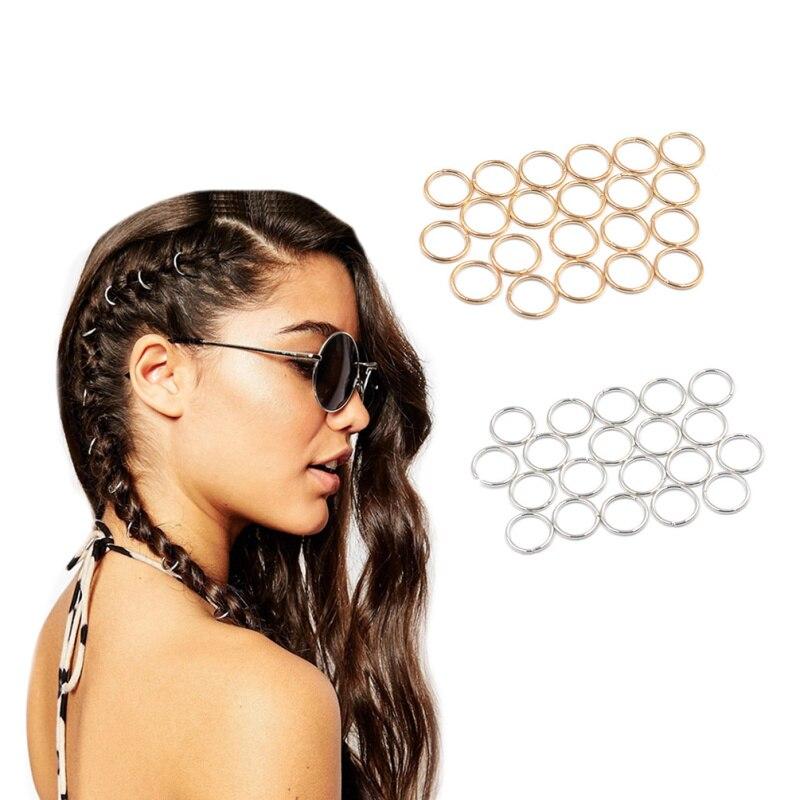 Lychee Clip Headwear-Accessories Hair-Cuff Barrette Circle Dreadlock 20pieces Hoop Braid