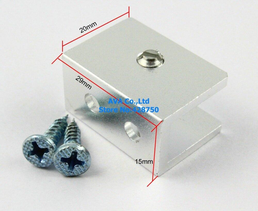 12 Pieces Glass Shelf Clamp Clip Bracket Shelf Support For 7 10mm ...