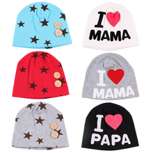 Baby Hat 2018 Spring Star Mama Papa Hats For Girls Children Hospital Cotton Knitted Baby Caps