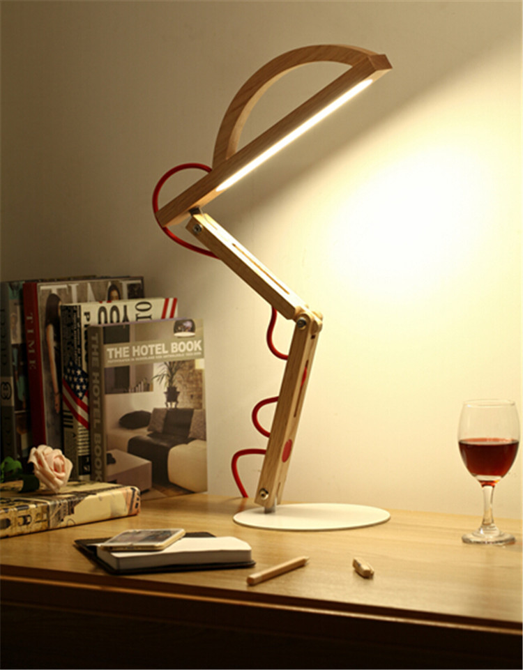 Office Lamp Supplies Modern Lighting Decorative Led Desk Lamp Folding  Wooden Desk Light Touch Switch Table Lamps For Living Room In Desk Lamps  From Lights ...