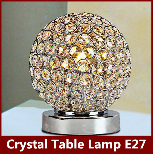 Modern K9 Crystal Table Lamp led desk light E27 Bedside Living Room Office Lampshade Decoration Luminaire for children FRTL/T39