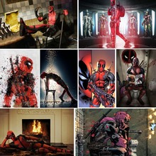 5d Diy Diamond Painting Deadpool Full Drill Square Diamant Comic Film Dimond Embroidery Hero Sign Home Mosaic Decor X38