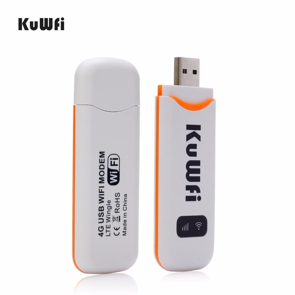 Modem KuWfi 4G odblokowany 4G LTE klucz USB 100 mb/s FDD/TDD/WCDMA router bezprzewodowy USB 2.0 wifi w samochodzie routery wbudowana antena 2dbi