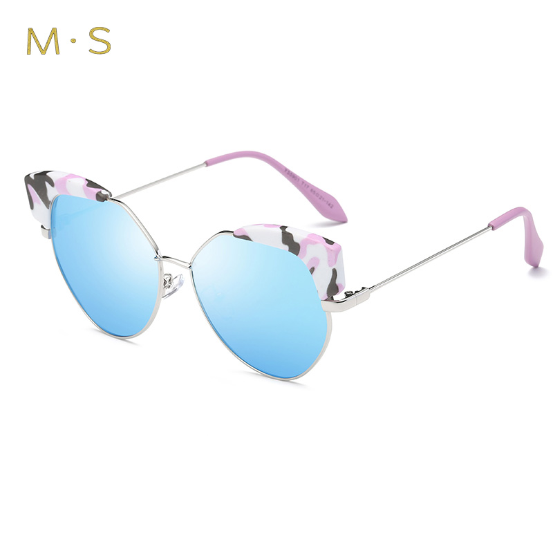 2017 Sunglasses Women Polarized Fashion Ladies Sun Glasses Female Cat Eye Sunglasses Oculos MS Shades With Case J35