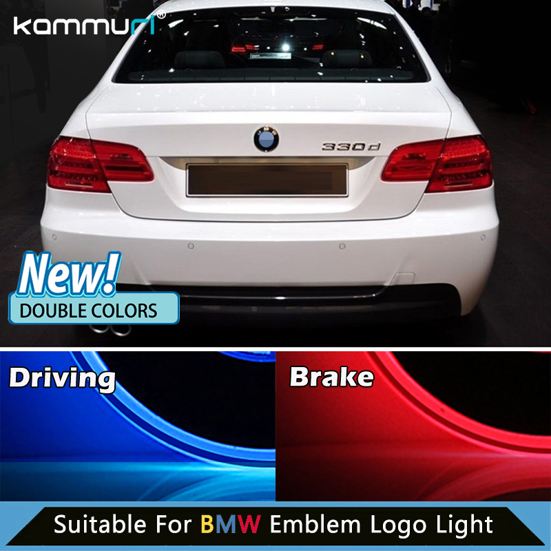 KAMMURI NEW Double colors Light for BMW E46 E39 E60 E36 F30 F20 F10 E30 e34 E38 E87 X5 E70 E53 E83 led Emblem Badge Logo Lights 5 6 speed gear shift knob with m logo for bmw 1 3 5 6 series e30 e32 e34 e36 e38 e39 e46 e53 e60 e63 e83 e84 e87 e90 e91 e92 f30