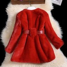 2016 Winter Children s clothing faux rabbit fur coat large children girl furry overcoat children s