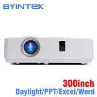 BYINTEK бренд облако K3 300 дюймов дневного 3300 ANSI 3LCD Видео Movie 1080 P проектор Full HD для дома домашний кинотеатр Бизнес