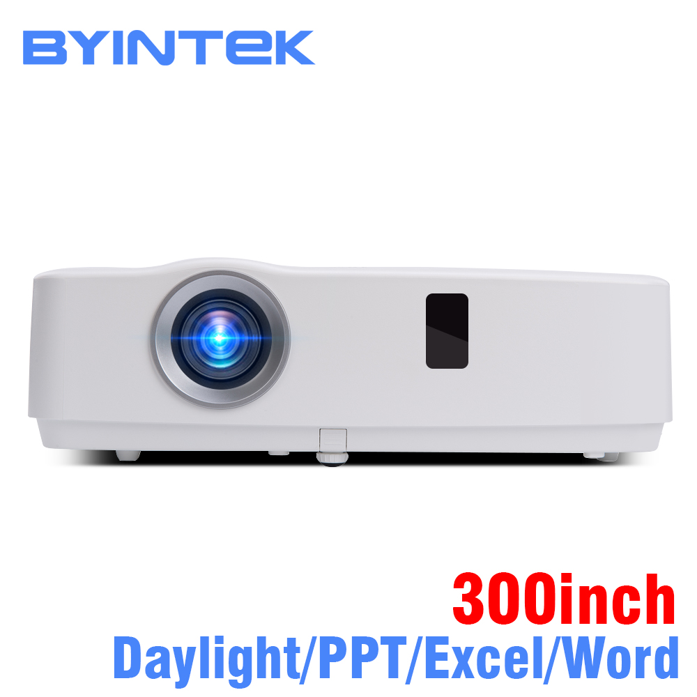 BYINTEK Brand Cloud K3 300inch Daylight 3300ANSI 3LCD Video Movie 1080P FUll HD Projector for Home Theater Education Business