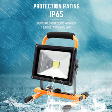 LED Floodlights Spotlight IP65 Waterproof Rechargeable Outdoor Party Camping Lights AC 100-250V/DC 12V Evening Performance Lamp