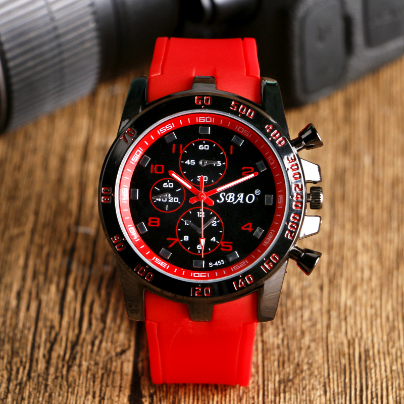 Teenager Popular Wrist Watch 2016 New Arrival Red Sil