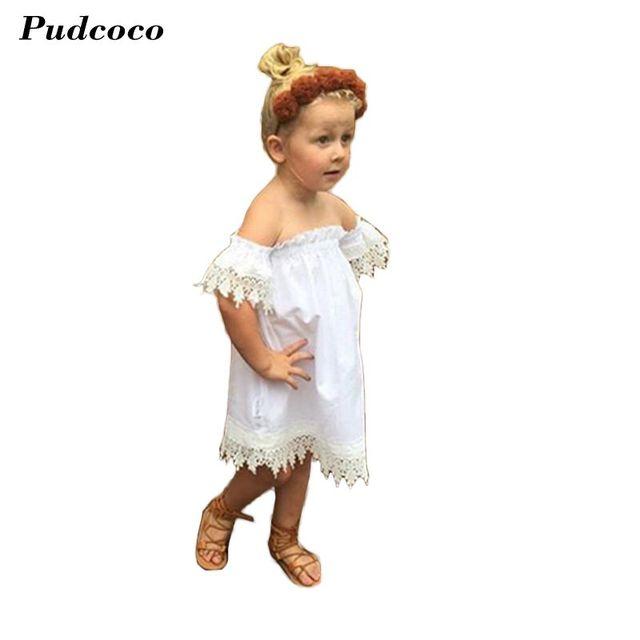 competitive price 43f25 75d73 Mode Sommer Weiß Mini Tutu Kleid Spitzenkleid Boho Strand Kleidung  Prinzessin Baby Kleid Sommer Für Baby Kleider Mädchen