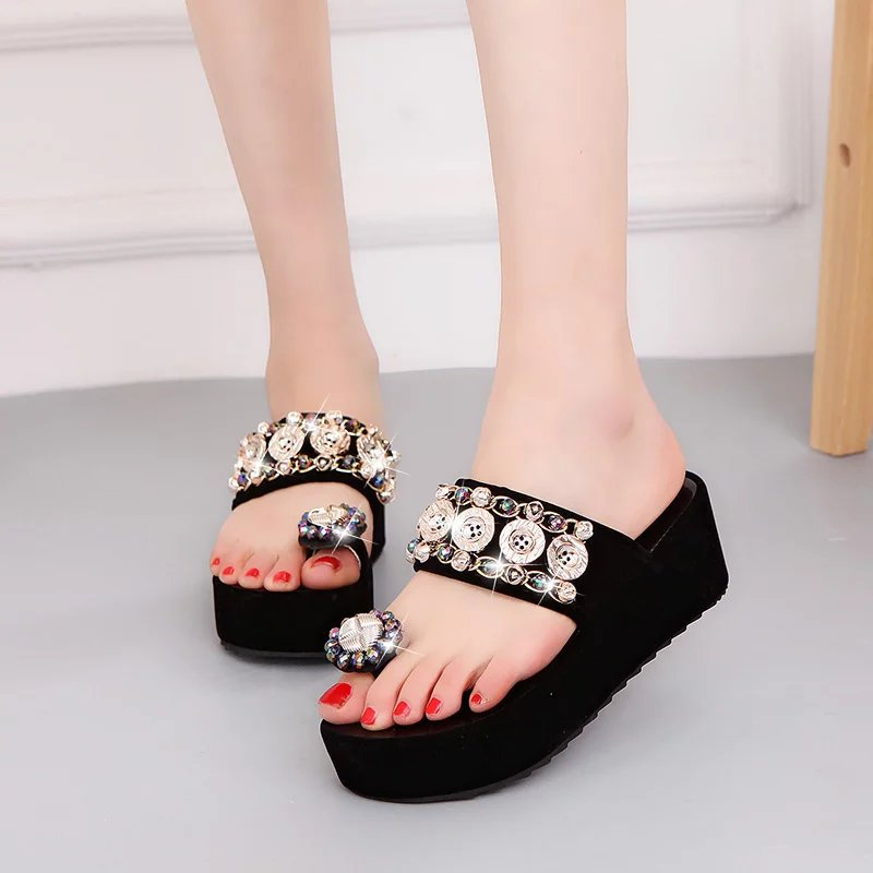 <font><b>Woman</b></font> <font><b>Slippers</b></font> Home <font><b>Slippers</b></font> <font><b>Sexy</b></font> <font><b>High</b></font> <font><b>Heel</b></font> <font><b>Shoes</b></font> <font><b>Women</b></font> Sandals Casual Beach Sandals 2019 Summer Comfortable Flip Flops image