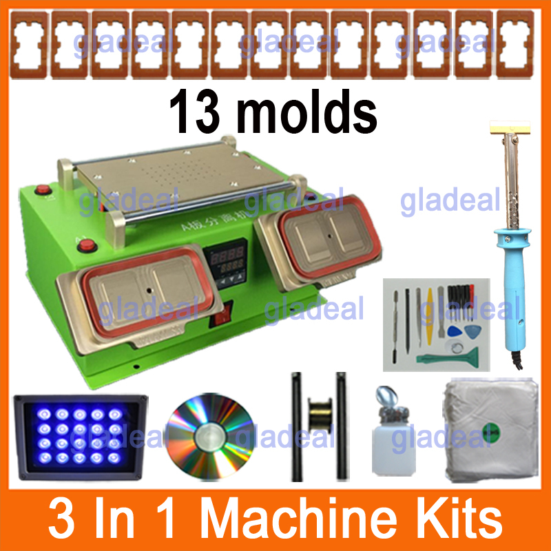 3 In 1 Multifunction LCD Repair Machine Built-in Vacuum Pump Middle Frame Separator for Samsung / Touch Screen LCD Separator free shipping screen repair machine kit ly 946d lcd separator for 5 inch mobile screen 12 in 1 separate machine