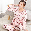 2017 nuevos pijamas mujeres pijama establece las mujeres de la marca caliente de dibujos animados rosa de navidad ropa de dormir de mujer