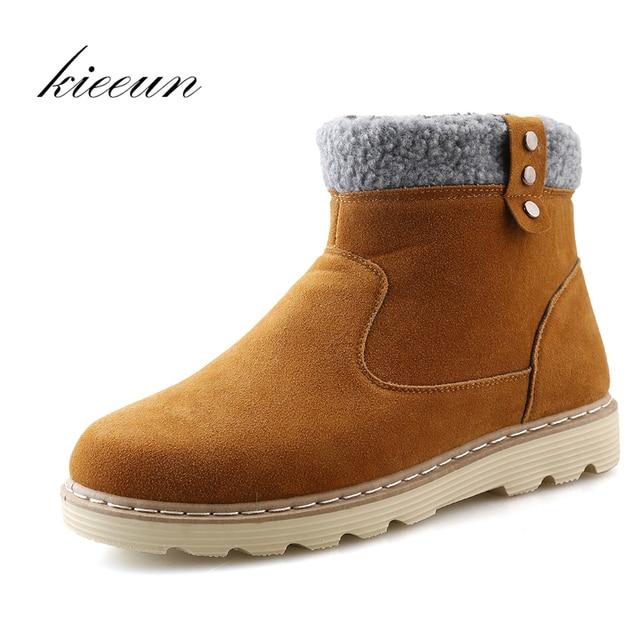 Nouveaux Chaussures Bottes d'Homme hiver d'Homme en plein air Bottes de neige en coton velours épais Casual Chaussures De Luxe LXr0hD78