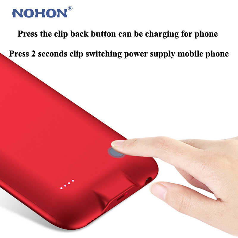 Nohon Pin Sạc Trường Hợp Cho Apple iPhone 6 6 S 6 7 7G 2500 mAh Power Bank Gói Bên Ngoài Dự Phòng siêu Mỏng Di Động Bateria Bao