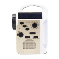 Multifunctional Crank Dynamo AM/FM Hand Crank Solar Radio USB Mobile Phone Charger LED Torch/Flashlight Blutooth Speaker