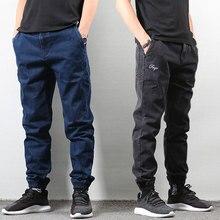 Japanese Style Fashion Men Jeans Blue Black Slim Fit Classical Denim Joggers Pants hombre Streetwear Hip Hop