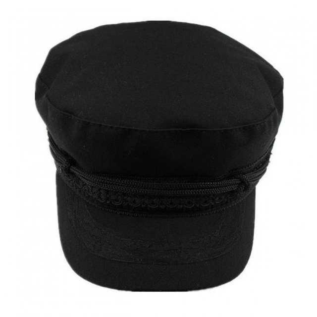 f7acb20e4aa72 placeholder COKK Chapéu Militar Chapéus de Inverno Para Mulheres Senhoras  Cap Chapéu Militar Feminino Black Grey Gorra
