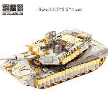 Jouet Enfant Colorful 3D Metal Puzzles Model For Adult Kids DIY Jigsaw M1A2 SEP Tank Educational Toys Collection Christmas Gifts tamiya35269 tank assembly model american m1a2 abrams tank model