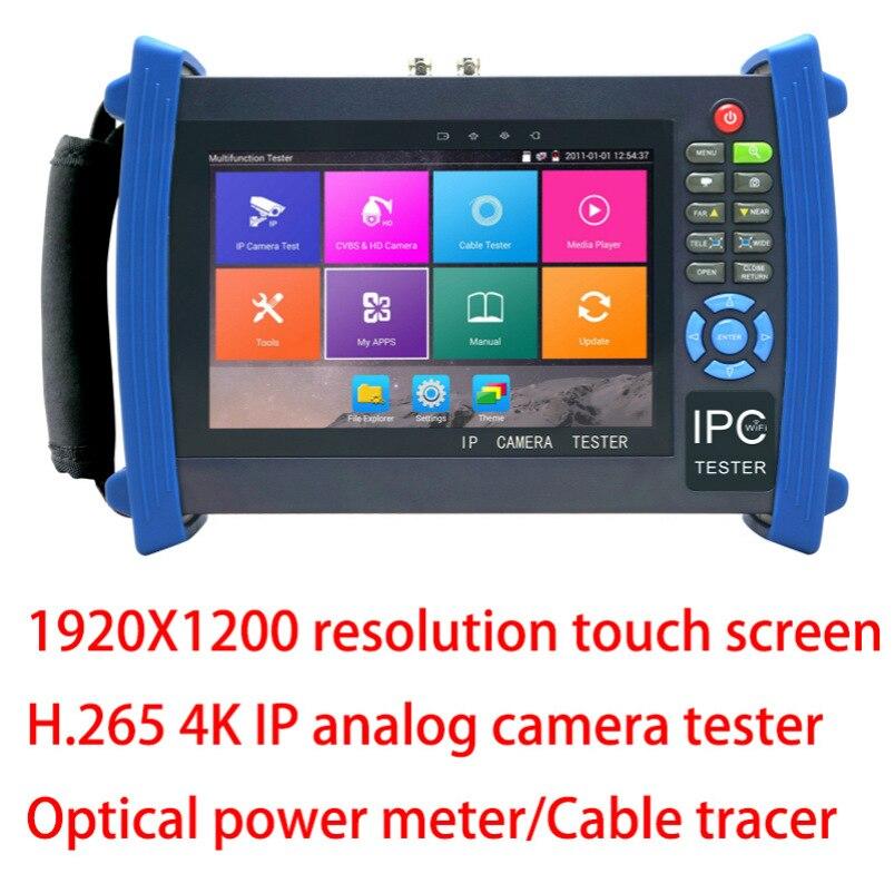 Новый H.265 4 K ip камера тестер Аналоговый CVBS IP тестер систем Скрытого видеонаблюдения с дисплеем с кабелем тест RJ45 измеритель оптической мощно