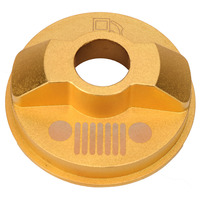 Gold Metal Fuel Tank Cap For Jeep Wrangler JK Unlimited X Sport Freedom Sahara 2 4Door