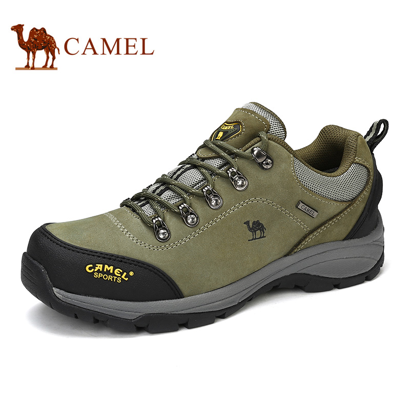 Camel outdoor shoes 2016 new arrival cow leather durable hiking shoes waterproof lace up non-slip sport climbing shoeA632026655 outdoor lace up skip resistance climbing casual shoes