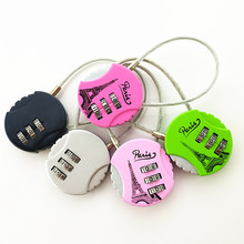 2 pcs/lot 3 Digit Padlock Mini Resettable Combination Travel Luggage Suitcase Code Lock Padlock Alloy Locks 3 digit compact padlock assorted color